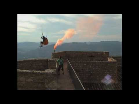 Crazy extreme paragliding jump in Spain Video