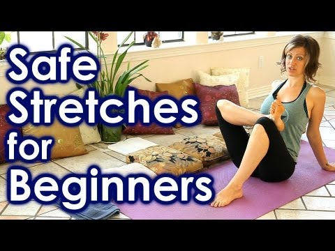 How To Stretch for Beginners, Safe Stretches for Full Body Yoga, Back & Leg Pain Relief, Sciatica
