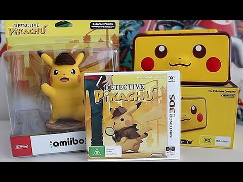 Detective Pikachu 3DS (Unboxing EVERYTHING)