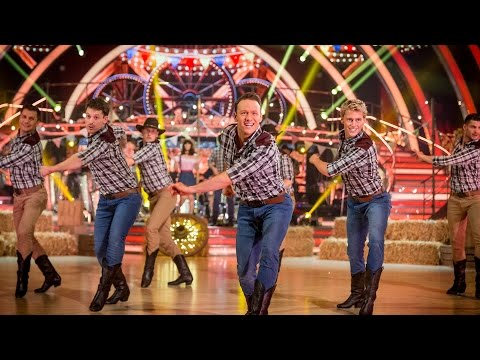 http://www.bbc.co.uk/strictly The Strictly professionals perform a group dance to 'Cotton Eyed Joe' and 'Timber' medley.