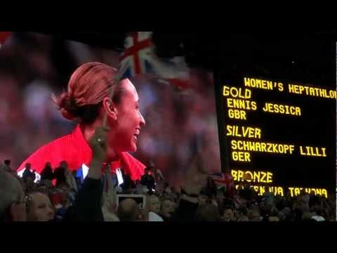 London 2012 Olympic Games: Jessica Ennis' medal ceremony
