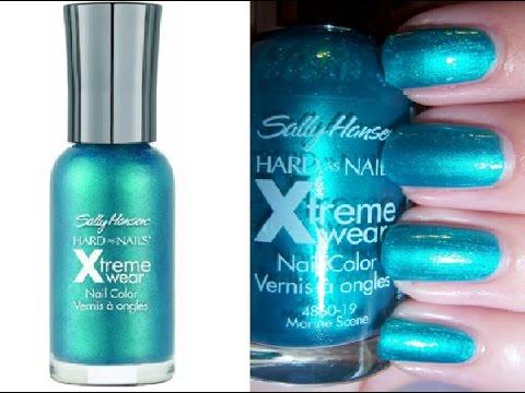 Sally Hansen Hard As Nails Xtreme Wear Nail Color Review   Beauty Express