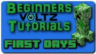 Minecraft Voltz Mod Pack Beginners Tutorial - Part 1 - How to Make a Metallurgic Infuser!