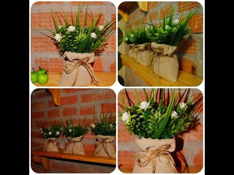 DIY/ Декоративные мешочки с зеленью! Наш ответ ИКЕА ))) Мастер класс по декору