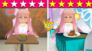 I Went To The WORST And The BEST REVIEWED Restaurants In Roblox!