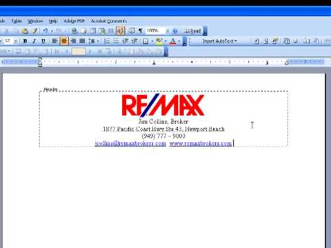 How To Design Your Own Letterhead In Ms Word Youtube
