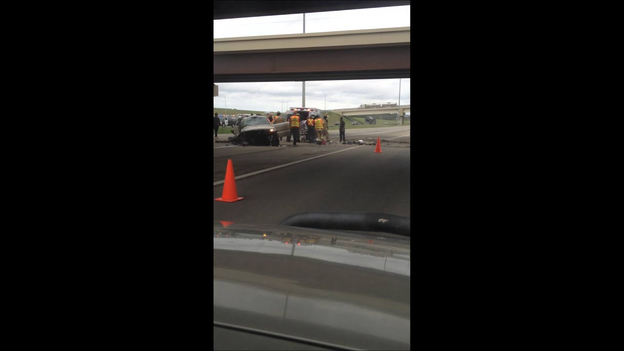 Accident on yellowhead trail, at Anthony henday drive 2014 - YouTube