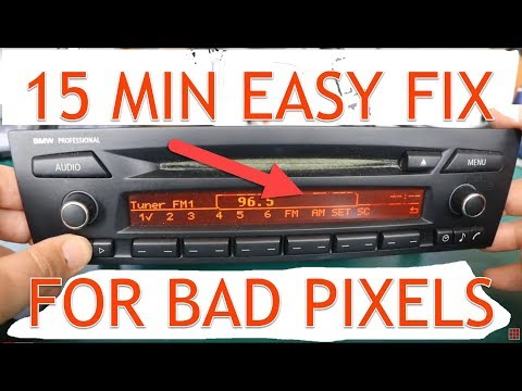 DIY Pixel Repair Instructions for BMW E90. E91. E92 Professional Radio CD73 made by Alpine