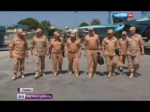 На базе Хмеймим Шойгу показали новейшие самолеты