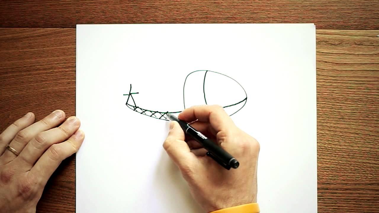 Disegni a matita facili disegnare un elicottero youtube for Immagini da copiare a mano