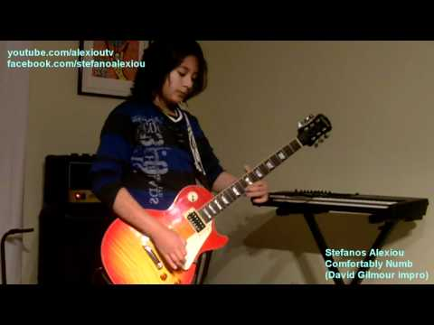 Pink Floyd - Comfortably Numb (Guitar impro and David Gilmour solo by Stefanos Alexiou)