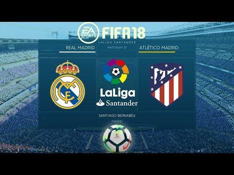 FIFA 18 Real madrid vs Atlético Madrid | La Liga 2017/18 | PS4 Full Match thumbnail