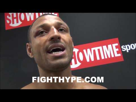 KELL BROOK LOCKER ROOM REACTION AFTER DEFEATING SHAWN POTER I FEEL LIKE IM ON CLOUD 9