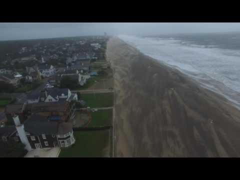 My Drone Video of Virginia Beach after Tropical Cyclone HERMINE, 30 to 40 mph winds, 9-3-16 #1