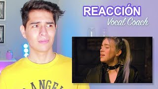 Reacción y Análisis a la Voz Real de Billie Eilish por Primera Vez - Vocal Coach Reacciona | Vargott