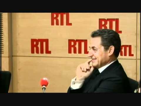 Laurent Gerra imite Nicolas Sarkozy  présent dans les studios d'RTL