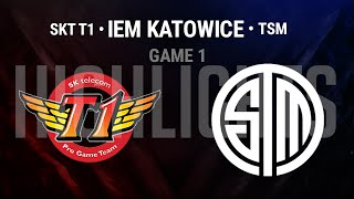 SKT vs TSM Game 1 Highlights Semi-final | IEM Katowice 2016 World Championship S6 SKT T1 vs TSM