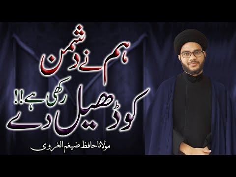 Hum Ny Dushman Ko Dheel Dy Rakhi Hy !! | Maulana Hafiz Zaigham-Al-Gharavi | 4K