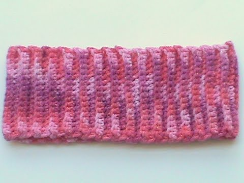 Crochet Ribbing : single crochet ribbing headband or hat brim - YouTube