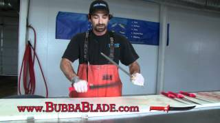THE PROS SHOW US HOW-TO SHARPEN THE BUBBA BLADE