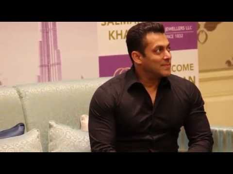 Salman Khan arriving at the press conference in Dubai for PNG jewellers
