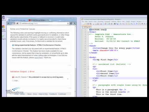 Validate HTML5 code using Google Chrome HTML Validator