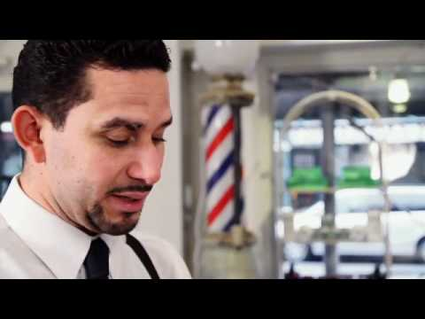 Oscar New York Barber teaches how to do a straight razor shave. Visit him at  http://www.facebook.co