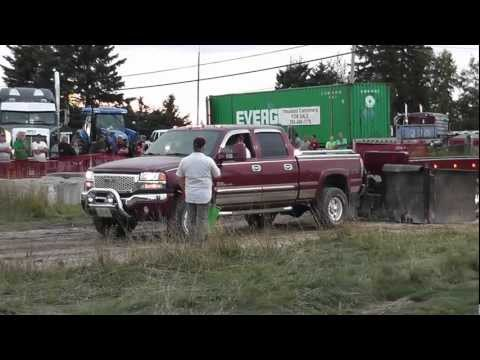 GMC Truck pull FAIL! Dude busts wifes truck!!! Powassan ON.