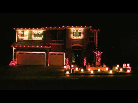 Halloween Light Show 2010 HD - Pump It  ( Black Eyed Peas ) Music Videos