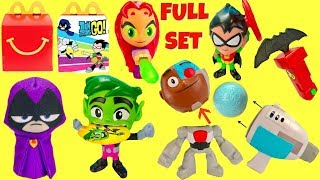 Teen Titans Go McDonald's Happy Meal Full Set 2019