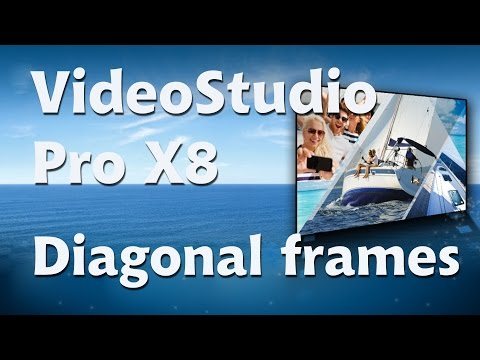 Corel VideoStudio Pro x8. diagonal picture in picture
