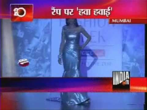 Sridevi Almost Trips On Ramp At Lakme Fashion Week video