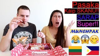 "Munchpak Food/Snacks Taste Test Review (Lithuanian/Filipina) ""PinayVlog"" | it'srofa"