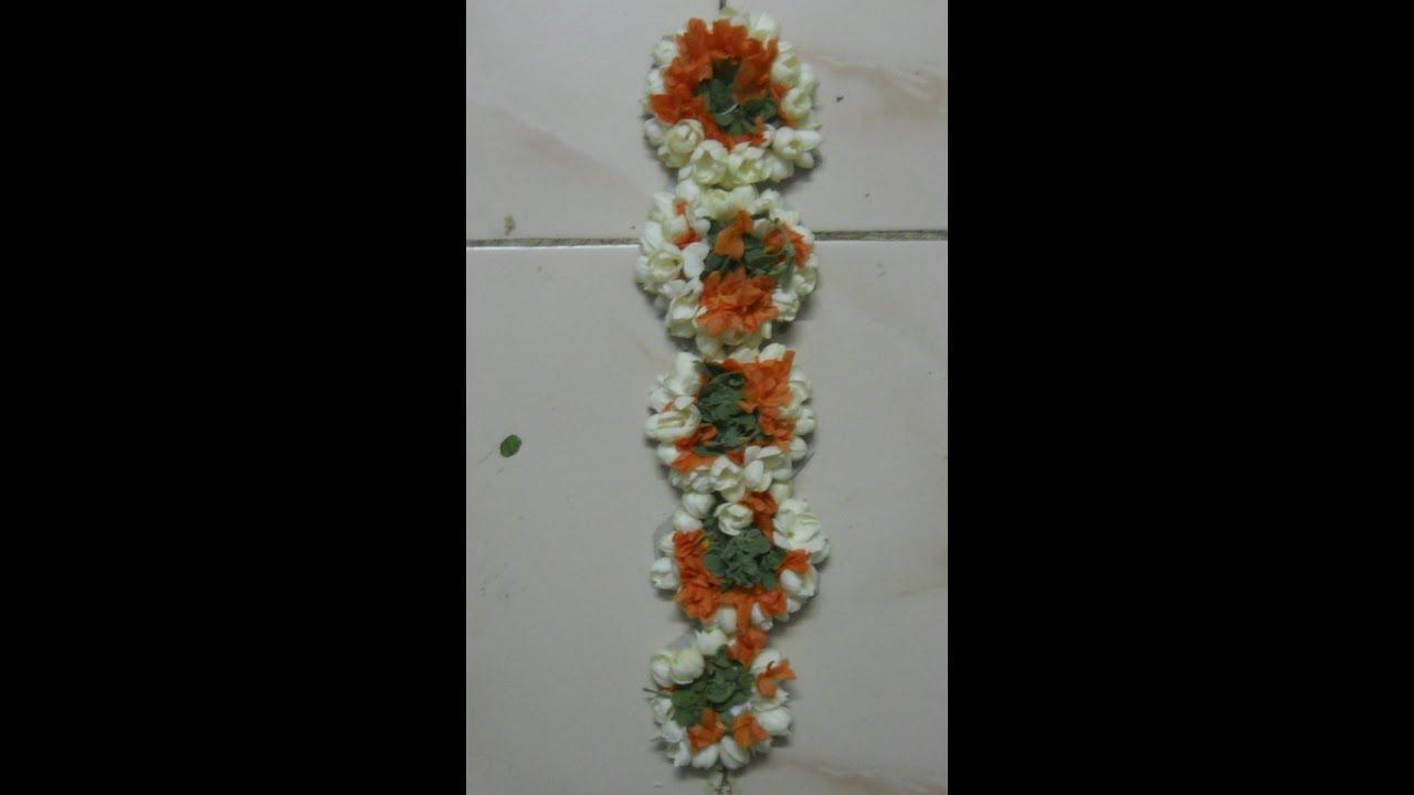 Simple Poo Jadai Or Flower Decoration For Braid Youtube