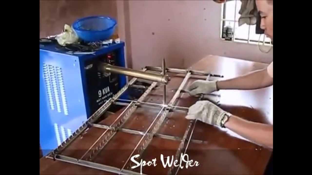 Spot Welding Machine Steel Wires Welding Youtube