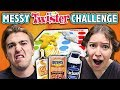 download mp3 dan video EXTREME MESSY TWISTER CHALLENGE! (ft. React Cast) | Challenge Chalice