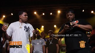 CHARLIE CLIPS & GOODZ VS HITMAN HOLLA & JOHN JOHN! Bars over jokes! URL Summer Impact!