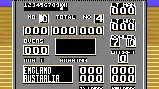 C64 World Cricket 1992Zeppelin Gamescr Xrated