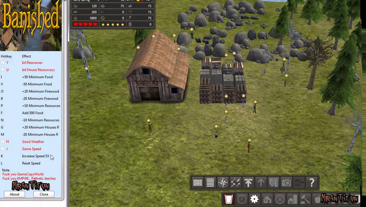Banished V1.00 32bit-64bit Trainer +9 - YouTube