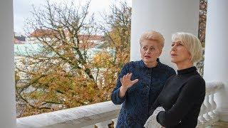 Prezidentė susitinka su aktore Helen Mirren