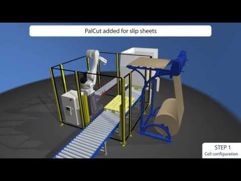 Palletising with BILA Flex – A 3D simulation