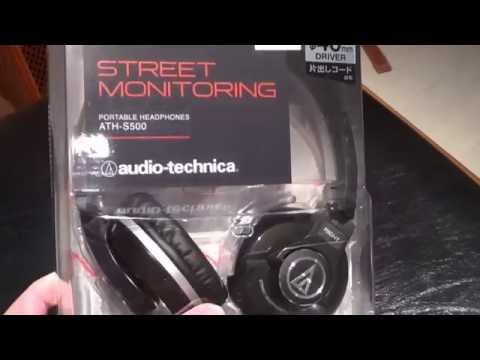 Audio-Technica ATH-S500 Portable Headphones Unboxing