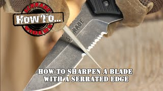How To Sharpen A Serrated-Edge Blade
