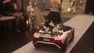 Dog Comes Down the Aisle in Toy Car for Owner's Wedding - 1018610