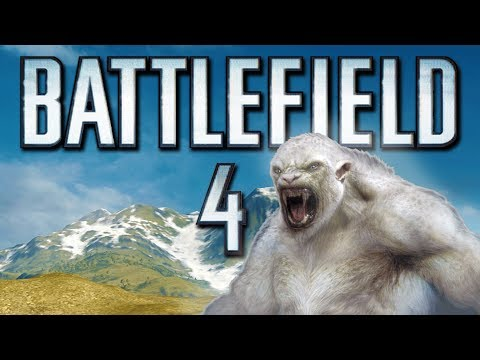 Battlefield 4 Online Funny Moments - The Yeti Roar Easter Egg and SRAW Fun! (Funtage)