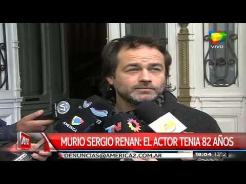 Amigos y actores despidieron a Sergio Renán