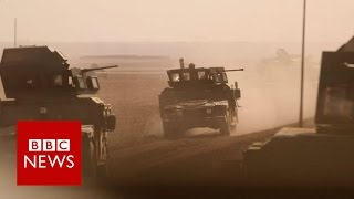 Battle for Mosul: Iraq convoy repels IS suicide bombs - BBC News