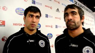 Interview to Rafael Aghayev and Shahin Atamov - 2012 World Karate Championships