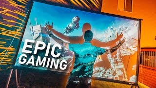 This MASSIVE Solar Powered Gaming Setup Is EPIC!!
