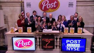 Post Holdings celebrates spinoff from Ralcorp Holdings and rings the NYSE Opening Bell